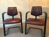 HAG Credo leather chairs