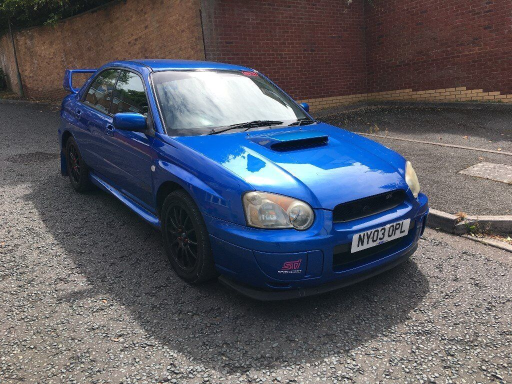 2003 subaru impreza wrx turbo blue modified sti extras 1 years mot in high wycombe. Black Bedroom Furniture Sets. Home Design Ideas