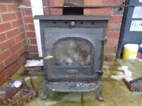 cast iron sunrain log burning stove