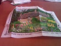 New tapestry kit from the craft collection called Hardy's Cottage.