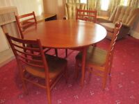 Avalon Extending Dining Table with four chairs - circa 1969