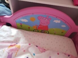 Peppa pig toddler bed age 1to6