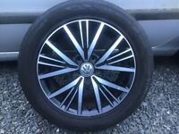 16INCH GENUINE VW GOLF ALLOY WHEELS WITH TYRES FIT MOST MODELS GOOD CONDITION