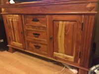 Solid Sheesham Wood Set of Coffee Table, Show Cabinet & Sideboard - Excellent Condition - Bargain