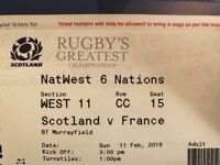 Scotland v France 6 nations ticket