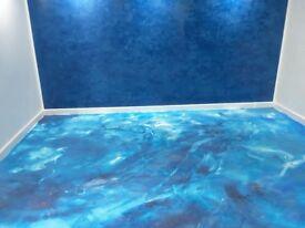 Polished plasterer and venetian marble plasterering