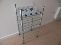 High Quality Metal Wine Bootle Rack Holder Stand Organiser for 24 Bootles Storage.