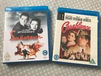 Casablanca and saboteur blu rays