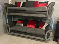 DFS SHANNON FABRIC SOFA SET IN NICE CONDITION 3+3 seater