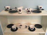Vintage Royal Albert Masquerade Bone China 4 Piece Tea Set Dishwasher safe