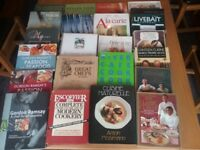 Chefs cookery book collection. 23 in total.