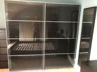 Large wardrobe with sliding doors