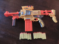 A Blaze Storm Semi-Auto Soft Bullet Blaster Toy Gun with 10 Darts & 9 Bullets