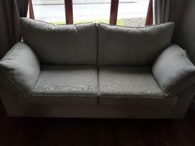Grey fabric 3 seater sofa