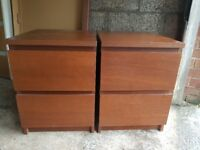 Ikea bedside cabinets, chest if drawers, free delivery