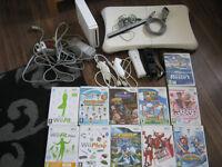 Nintendo Wii balance board and 11 games