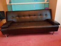 Dark brown venus sofa beds