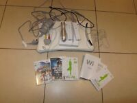 Nintendo Wii console, balance board, etc and games
