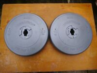 2 x 10kg Weight Plates (1 inch)