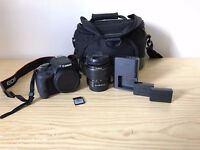 DSLR Canon EOS 100D - with SD Card extra battery and Bag