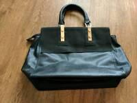 Ladies black & gold warehouse hand bag