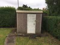 Precast concrete shed for sale. Very good condition.