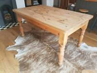 HEAVY PINE KITCHEN TABLE