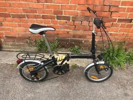 """Folding Bike. Serviced, Good Condition. 6 Speed, 16"""" Wheels. Free Lock, Lights, Delivery."""