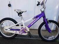"""Girls very lightweight 16"""" wheel aluminium bike."""