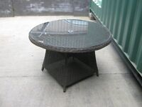 Brown Garden Rattan Table and 4 chairs