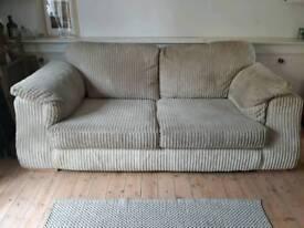 Stone/beige/cream cord fabric sofa SCS panama