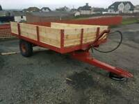 Tractor tipping trailer been revamped new wood