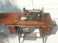 old white sewing machine
