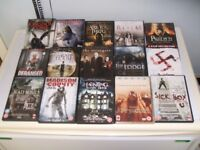 75 DVD's for sale: Includes 45 Horror/Supernatural, as well as: Thrillers, Sci-Fi, Various Others.