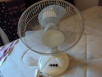 "12"" Oscillating Desk Fan"