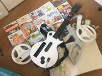Nintendo wii console + games bundle