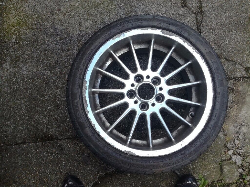 """BMW e38, e39 genuine 18"""" alloy x1 front with tyre 1091991"""