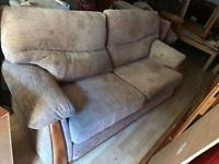 Sofa and 2 x arm chairs (2+1+1 matching suits ) delivery available