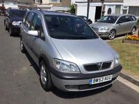 Vauxhall zafira 2.0 dti turbo diesel elagance 2004 facelift 7 seat mpv people carrier mot march