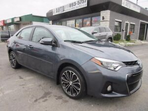 2014 Toyota Corolla S Automatic Leather Sunroof Camera  A/C Blue