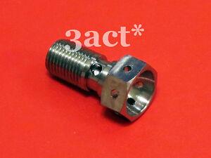 Titanium-Ti-Banjo-Bolt-M10-x-1-0-Pitch-Brembo-Single-Line-Safety-Wire-Hole