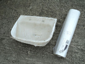 Royal venton bathroom sink with pedestal, new in sealed wrapper, new/old stock, no fittings