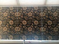 Roman blinds with flower motif