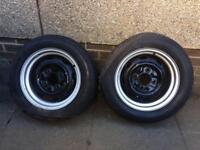 VW Beetle 15 x 7 rear wheels x 2 £80