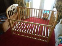 MOTHERCARE SOLID WOOD COT
