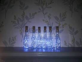 Battery operated bottle lights