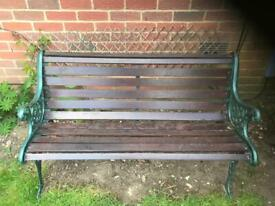 Metal /wooden garden bench seat