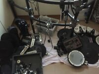 Roland electronic drum kit with lots of spares 3 percussion modules 25 symbols and pads +much more