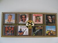 A set of 8 CDs of country and western