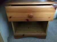 Wooden bedside drawer